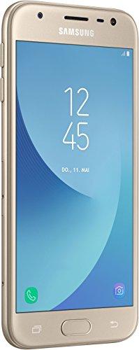 """Samsung Galaxy J3 - Smartphone de 5""""(2 GB RAM, 16 GB Memoria Interna, cámara de 13 MP, Android), Color Oro- Versión Extranjera"""