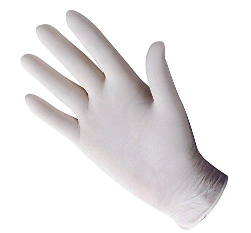 Sconosciuto Generic Shield Guanti USA e Getta, Confezione da 100, GD45, White, 100 Pack