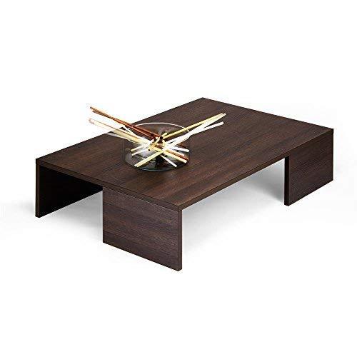 Mobili Fiver Rachele, Tavolino da Salotto, Legno, Rovere Moro, 90.0x60.0x21.0 cm