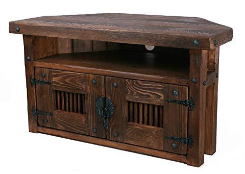 Own Design Realizzato a Mano, in Legno-Mobiletto ad Angolo Supporto Dark Wood Tone libreria...