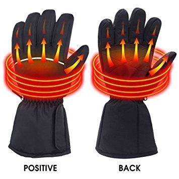 Svpro, guanti scaldamani elettrici, ricaricabili, alimentati a batteria, guanti termici per...