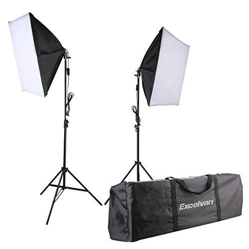 Excelvan 700W Luci da Studio Fotografico Continuo Kit di Illuminazione per Fotocamere a Luce Liscia...