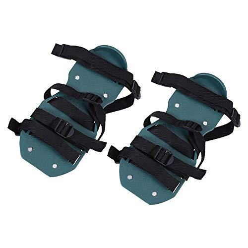 Fdit Sociame-EU 1Par Sandalias para Airear Césped Aireador de Aflojamiento Zapatillas con Pinchos Herramienta de Jardinería (4 Correas)