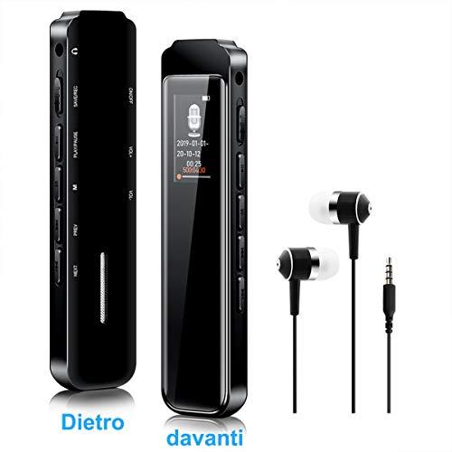Registratore Vocale Portatile,SKEY 8GB HD Audio Registratore Vocale Digitale microfono sensibile Con...