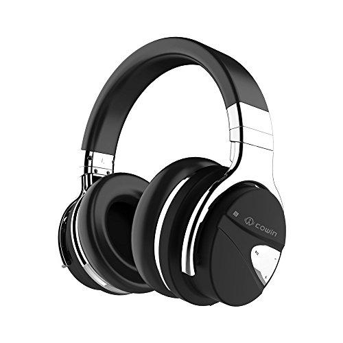 COWIN E7-MR Auriculares Inalámbricos Bluetooth con Micrófono Hi-Fi, Almohadillas de Protección Aislantes Suaves y Acolchadas, muy cómodos, 30 Horas de duración de batería – Nuevo acabado MR. Garantía 24 meses