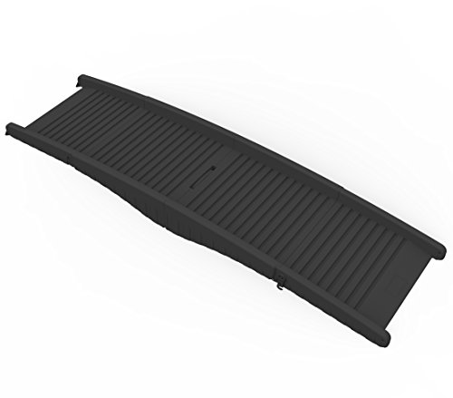 Dehner Hunderampe Gangway, ca. 152 x 43 x 40 cm, Kunststoff, schwarz