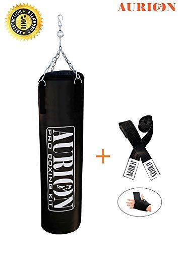 Aurion SRFFILLEDBLACK48 Punching Bag, 48-inch (Black)