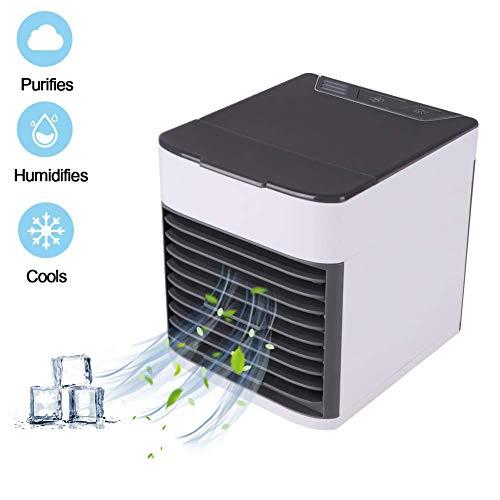 Condizionatore Portatile, Mini refrigeratore d'Aria, Portatile USB, Ventilatore 3 in 1, Regolabile,...
