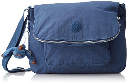 Kipling Garan, Borsa a spalla Donna, Blu (Jazzy Blue), 17x35x25.5 cm (B x H x T)