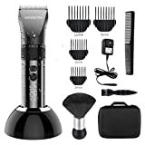 WENINETIES Professional Hair Clippers, Hair Trimmer Cordless Rechargeable Hair Clipper Electric Hair Cutting Machine with Ceramic Blade LCD Display,for Men, Kids and Family Use(Running 240min)