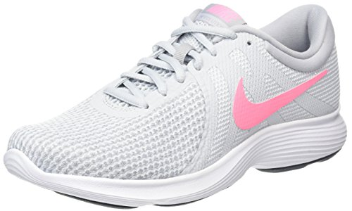 Nike Damen Wmns Revolution 4 Eu Laufschuhe, Grau (Pure Platinum/sunset Pulse/wolf Grey/black), 40 EU