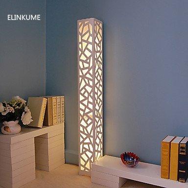 ELINKUME Lampada da Terra, LED Bianca Caldo Illuminazione, Stile Moderno in PVC Legno Materiale di...