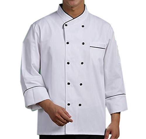 Nanxson-Unisex-Herren-Kochjacke-Basic-Design-Zweireiher-Langarm-Kche-Hotel-Kochkleidung-Uniform-Berufsbekleidung-CFM0040