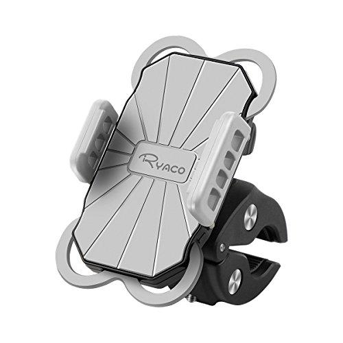 RYACO Anti-Shake Handyhalterung Fahrradhalterung, Universal Radsport Handyhalter für Motorrad, Handy Halter mit 360° Drehbare für 3,5-6,3 Zoll Smartphone GPS Andere Geräte 1
