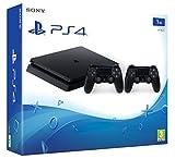 PlayStation 4 - Konsole (1TB, schwarz, slim) inkl. 2. DualShock Controller