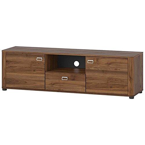 Elbectrade selex Mobile porta tv 2 ante 1 cassetto tinta noce walnut cm. L150xH44xP42 Siena 25