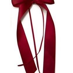 floristikvergleich.de 20 Antennenschleifen, Deko Schleifen, Hochzeit, Autoschmuck, Autoschleifen, Bordeaux Rot