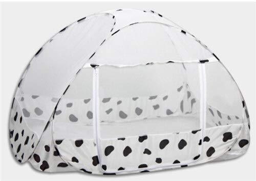 NO LOGO XW-WZ, 120 * 80 cm Cute Baby Bed zanzariera Pieghevole zanzariera for Letto for Bambini Portatile Lettino baldacchino Baby presepe reticolato Tenda (Color : White)