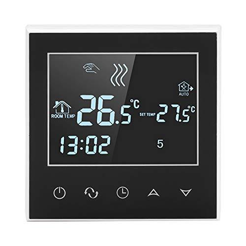 Asixx Thermostat sans Fil, WiFi Thermostat Programmable avec Écran Tactile LCD pour Vanne Motorisée, Vanne Thermique, Électrovanne, Appareil de Chauffage, 2 Modes d'Affichage de Température