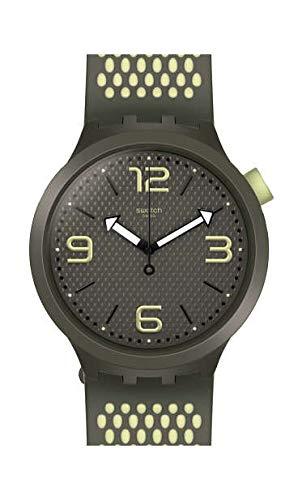 Swatch Herren Analog Quarz Uhr mit Silikon Armband SO27M102