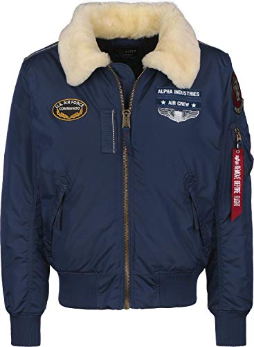 Alpha Industries Injector III Air Force Giacca Bomber New Navy