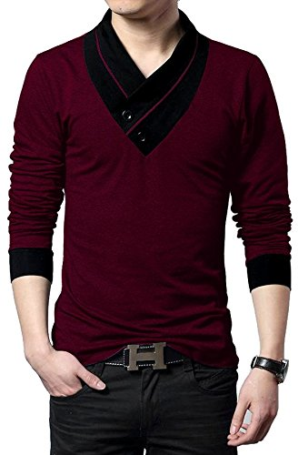 EYEBOGLER Men's Cotton T-Shirt (XXL-CUN-WM_Maroon)