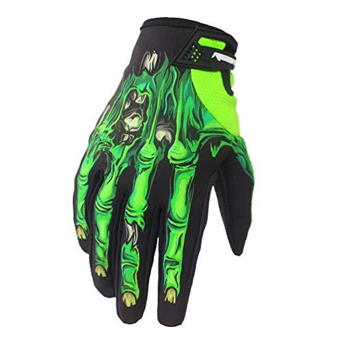 Guanti da motociclista da uomo completamente personalizzati, modello da cranio, guanti da...