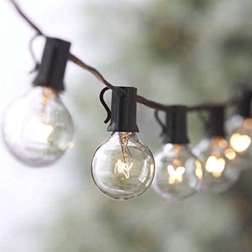 25Ft catena a lampadina, luci stringhe con 25 lampadine a incandescenza G40 e 2 lampadine a...