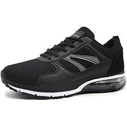 Knixmax-Zapatillas de Running para Mujer,Zapatillas de Deportivas para Correr Al Aire Libre Zapatos Gimnasia Ligero Fitness Casual Sneakers Zapatillas Ligeras Cómodas y Transpirables,EU37 (UK4) Black