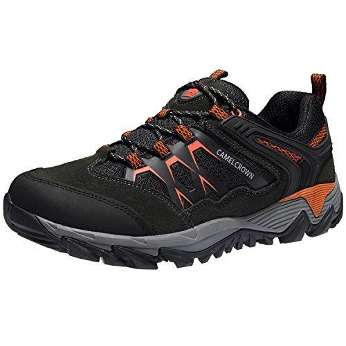 CAMEL CROWN Zapatos de Senderismo Hombres Zapatillas Ligeras de Escalada Botas de Trekking al Aire Libre Seguro Respirable Calzado Deportivo para Correr Climbing Gimnasio
