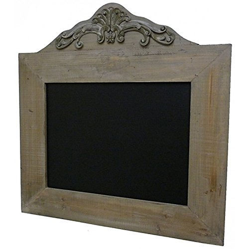 Ardesia Nera da parete lavabile promemoria Memo lavagna in legno nero con fregio 1,5x 63x 66cm