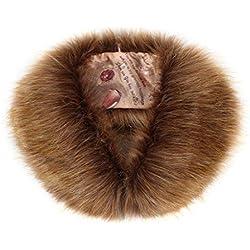 Cuello estola de frío de Invierno para Mujer, de Piel sintética