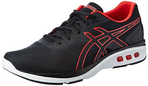 ASICS Men's Gel-Promesa Black/Red Alert Running Shoes-8 UK/India (42.5 EU)(9 US) (T842N.001)