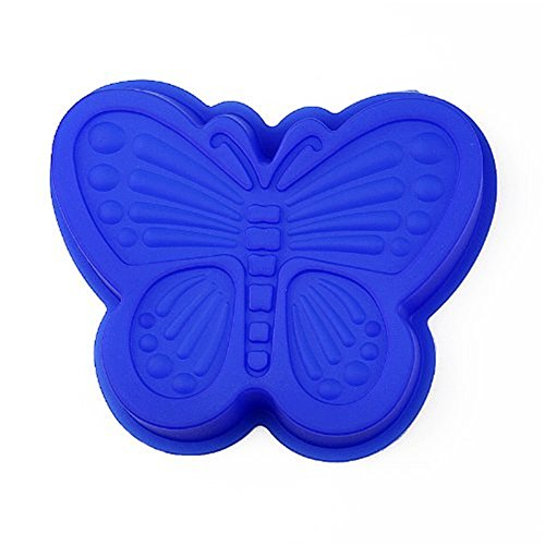 FantasyDay® 1 cavidades moldes de silicona para hielo, tartas, chocolate - 100% alimentarias y sin bpa - Mariposa