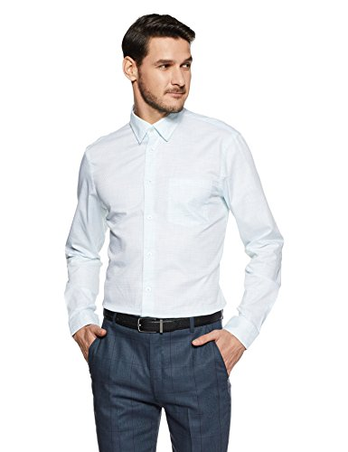 Arrow New York Men's Checkered Slim Fit Formal Shirt (ANVSH1049_White_40FS)