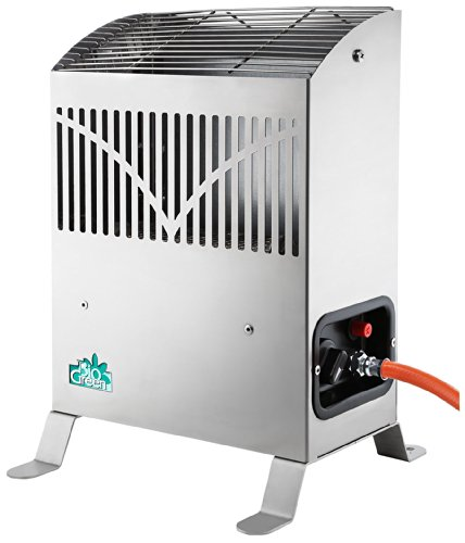 Bio Green FY 25/GB 2.5KW Frosty Propane Greenhouse Heater. This is a reliable option for those who would prefer a gas heater over electric. Whether you need to keep your greenhouse frost free or at a warmer temperature, this model can maintain from 1-2c for frost free use or up to 25c for tender plant or any temperature in-between. It features a thermostat that is required to control a consistent temperature. It also has the flame failure device to ensure the pilot light is always lit. Made from stainless steel, you can rest knowing that you are getting good value for your money. Simple to use and very effective.