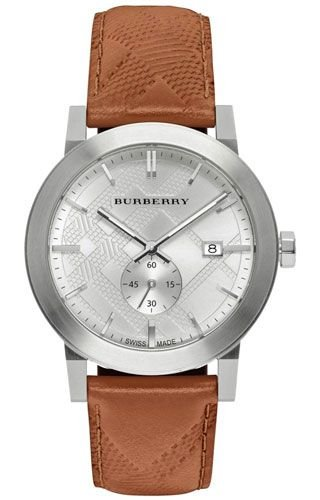 19f54153010 Mens Burberry The City Embossed Check Watch BU9904