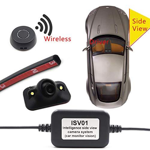 Telecamera per il monitoraggio dei punti ciechi del veicolo Telecamera per auto con visione laterale senza fili per auto Videocamera per porte di demolizione gratuite HD Night Vision