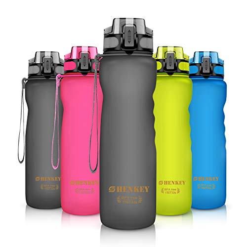 shenkey Bottiglia d'Acqua Sportiva, 600ml / 800ml / 1L BPA Free & Eco-Friendly Riutilizzabili Bottiglie d'Acqua a Prova di Perdite con Filtro Ideale per Ciclismo, Corsa, Yoga, Escursionismo