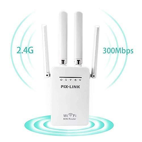 PIX-LINK Ripetitore WiFi, AmpRipetitore WiFi Wireless 300MBps Range Extender Universale WiFi...
