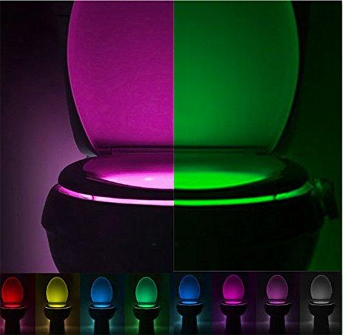 Yowao, luce notturna per WC, attivazione automatica, sensore di movimento della lampada a LED da...
