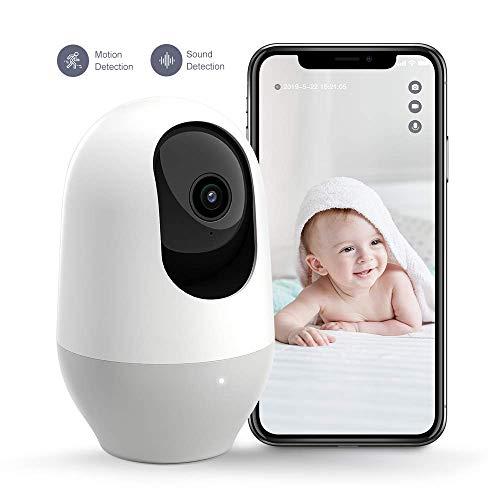 Nooie Telecamera di Sorveglianza WiFi,FHD 1080P videocamera IP Interno Wireless con Visione Notturna,Camera Videocamera WiFi 360°,BabyMonitor Audio Bidirezionale, Sensore di Movimento
