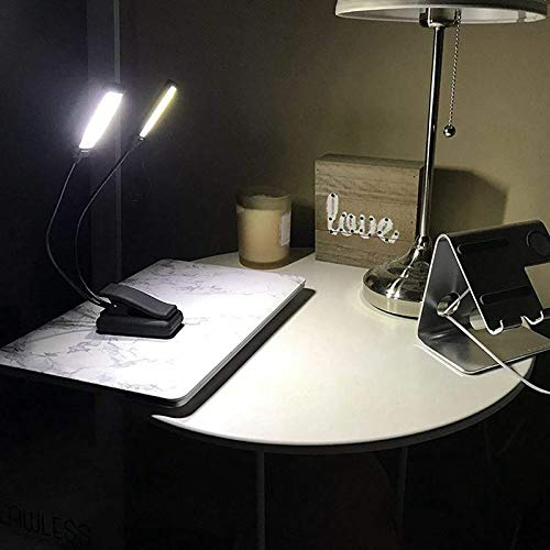 Branded SLB Works New 1X(Music Stand Light Clip On LED Lamp - No Flicker, Fully Adjustable, 6 Lev X6B7