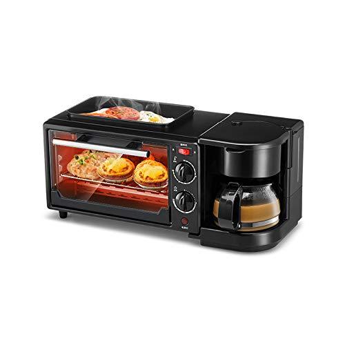 WLM Macchina multifunzione per la colazione in casa, normale forno tostapane, uovo fritto, caffè,...