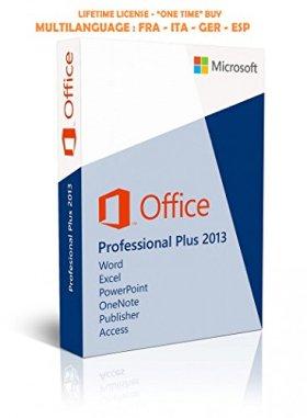 Microsoft Office 2013 Professional Plus 32/64 bits - Licence perpétuel - Pas d'abonnement - Licence numérique originale ESD de Microsoft Envoyé dans un jour par courrier électronique depuis Amazon - AUCUN CD / DVD | L'envoi est électronique!