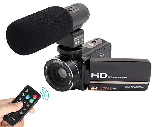Videocamera Full HD 1080P CofunKool 24MP 16X Digitale Zoom Videocamera per Visione Notturna con...