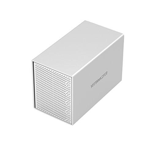 Yottamaster Alluminio 5 Baia 3.5 pollici USB3.0 esterno HDD Custodia SATA3.0 Supporto 5 x 10TB &...