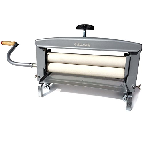 Hand Crank Clothes Wringer by Calliger | 14 Rollers - More Space to Wring than Any Other Brand | Manual Off Grid Laundry Dryer | Perfect for Clothing, Towels, Chamois, Tile Grouting Sponges