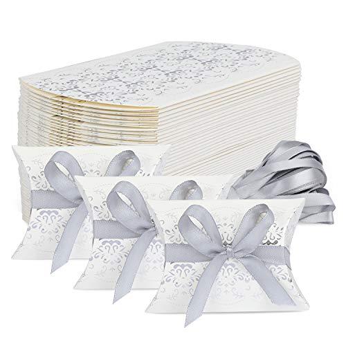 TsunNee Scatole per bomboniere, Scatola di caramelle di carta, confezione regalo Kraft, scatole di...