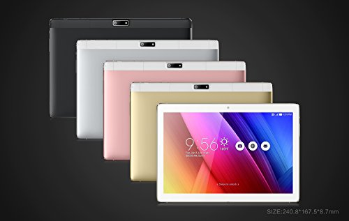 """FUSION5 10.1"""" Android 7.0 Nougat Tablet PC with MediaTek Quad-Core, GPS, Bluetooth 4.0, FM, 1280800 IPS Display, Google Certified, 16GB (104+)"""